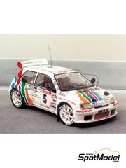 Renaissance Models: Model car kit 1/43 scale - Renault Clio Maxi usines Renault Rats - resin multimaterial kit