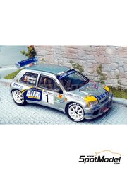 Renaissance Models: Model car kit 1/43 scale - Renault Clio Maxi Autonews Tanghe 1999 - resin multimaterial kit