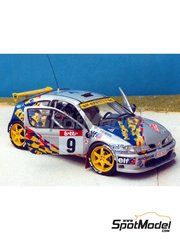 Renaissance Models: Model car kit 1/43 scale - Renault Megane Maxi Princen - Boucles de SPA 1998 - resin multimaterial kit