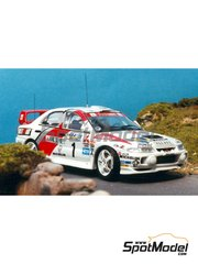Renaissance Models: Model car kit 1/43 scale - Mitsubishi Lancer Evo IV - Catalunya Costa Dorada RACC Rally 1997 - resin multimaterial kit
