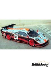 Renaissance Models: Maqueta de coche escala 1/43 - McLaren F1 GTR Gulf Nº 39, 41 - 24 Horas de Le Mans 1997 - maqueta de resina