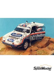 Renaissance Models: Model car kit 1/43 scale - Porsche 911 SCRS Rothmans - Paris Dakar Rally 1984 - resin multimaterial kit