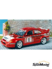 Renaissance Models: Model car kit 1/43 scale - Mitsubishi Lancer Evo VI - Freddy - Ypres Rally 1999 - resin multimaterial kit