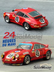 Renaissance Models: Model car kit 1/43 scale - Porsche 911 Carrera RS 2.8 Shell #49 - Jean Egreteaud (FR) + Jean-Claude Lagniez (FR) - 24 Hours Le Mans 1973 - resin multimaterial kit
