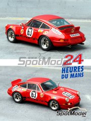 Renaissance Models: Model car kit 1/43 scale - Porsche 911 Carrera RS Gelo #63, 72 - 24 Hours Le Mans 1973 and 1974 - resin multimaterial kit