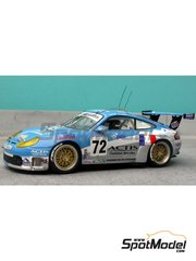 Renaissance Models: Model car kit 1/43 scale - Porsche 911 GT3 RS Luc Alphand Aventures #72 - Luc Alphand (FR) + Christian Lavieille (FR) + Philippe Alméras (FR) - 24 Hours Le Mans 2004 - resin multimaterial kit