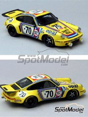 Renaissance Models: Model car kit 1/43 scale - Porsche 911 RSR  Opal #70 - 24 Hours Le Mans 1974 - resin multimaterial kit
