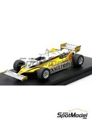 Renaissance Models: Model car kit 1/43 scale - Renault RE30 F1 ELF #15 - Alain Prost (FR), Rene Arnoux (FR) - FIA Formula 1 World Championship 1981 - resin multimaterial kit