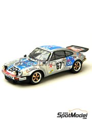 Renaissance Models: Model car kit 1/43 scale - Porsche 911 RS 3.0 J&Co #67 - 24 Hours Le Mans 1975 - resin multimaterial kit