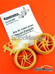 Renaissance Models: Rims 1/12 scale - Ducati 1199 Panigale S - resin - for Tamiya references TAM14129 and TAM14132