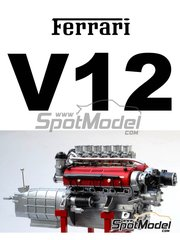 Renaissance Models: Engine 1/12 scale - Ferrari V12 3000cc - resins, photo-etched parts