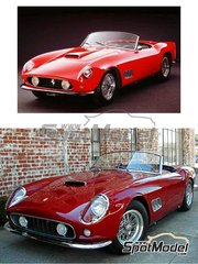 Renaissance Models: Model car kit 1/24 scale - Ferrari 250 GT SWB California - covered lights - resin multimaterial kit