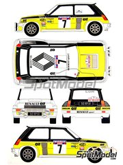 Renaissance Models: Model car kit 1/24 scale - Renault 5 Turbo #7 - Jean Ragnotti (FR) + Jean-Marc Andrié (FR) - Tour de Corse 1982 - resin multimaterial kit