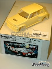 Renaissance Models: Model car kit 1/24 scale - Renault 5 Turbo Sodicam #5 - Jean-Luc Thérier (FR) + Michel Vial (FR) - Tour Auto 1982 - resin multimaterial kit