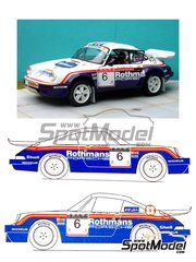Renaissance Models: Model car kit 1/24 scale - Porsche 911 SCRS Rothmans #4 - Henri Toivonen (FI) + Ian Grindrod (GB) - 1000 Pistes Rally 1984 - resin multimaterial kit