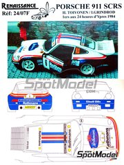 Renaissance Models: Model car kit 1/24 scale - Porsche 911 SCRS Rothmans #6 - Henri Toivonen (FI) + Ian Grindrod (GB) - Ypres Rally 1984 - resin multimaterial kit