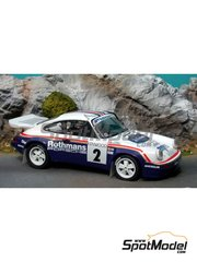 Renaissance Models: Model car kit 1/24 scale - Porsche 911 SCRS Rothmans - Bernard Béguin (FR) - Tour Auto 1985 - resin multimaterial kit