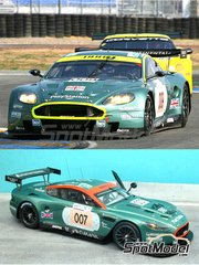 Renaissance Models: Model car kit 1/24 scale - Aston Martin DBR9 Gulf #007, 009 - Tomáš Enge (CZ) + Darren Turner (GB) + Andrea Piccini (IT), Stéphane Ortelli (MC) + Stéphane Sarrazin (FR) + Pedro Lamy (PT) - 24 Hours Le Mans 2006 - resin multimaterial kit