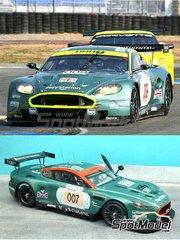 Renaissance Models: Maqueta de coche escala 1/24 - Aston Martin DBR9 Gulf Nº 007, 009 - Tomáš Enge (CZ) + Darren Turner (GB) + Andrea Piccini (IT), Stéphane Ortelli (MC) + Stéphane Sarrazin (FR) + Pedro Lamy (PT) - 24 Horas de Le Mans 2006 - maqueta de resina