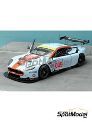 Renaissance Models: Model car kit 1/24 scale - Aston Martin DBR9 Gulf #007, 009 - Heinz-Harald Frentzen (DE) + Andrea Piccini (IT) + Karl Wendlinger (AT), David Brabham (AU) + Antonio Garcia (ES) + Darren Turner (GB) - 24 Hours Le Mans 2008 - resin multimaterial kit