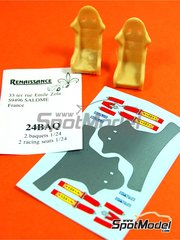 Renaissance Models: Seat 1/24 scale - Rally bucket seat - resin parts and water slide decals - 2 units