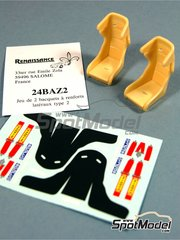 Renaissance Models: Seat 1/24 scale - Recaro rally bucket 2003 and 2004 - decals, resins - 2 units