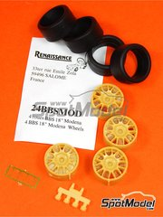 Renaissance Models: Rim 1/24 scale - BBS 18 inches 2001 - resin parts and rubber parts - for Tamiya kits TAM24228, TAM24242, TAM24298, TAM24299 and TAM89595 - 4 units