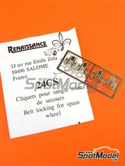 Renaissance Models: Detail 1/24 scale - Belt locking for spare wheel - photo-etch - 4 units image