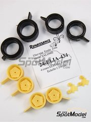 Renaissance Models: Rims and tyres set 1/24 scale - Elia 434 - resin parts and rubber parts - for BMW M1 kits