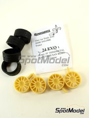 Renaissance Models: Rims and tyres set 1/24 scale - Fondmetal Evo Corse 18 inches - resin parts and rubber parts image