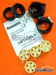 Renaissance Models: Rims and tyres set 1/24 scale - Fuchs rims and slicks - resin parts and rubber parts - 4 units
