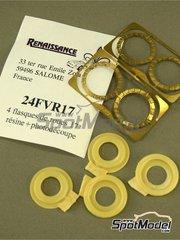 Renaissance Models: Detalle escala 1/24 - Aireadores tipo venturi para llantas de 17 pulgadas del Grupo A - Venturi coolers for 17 inches Group A rims - resinas y fotograbados
