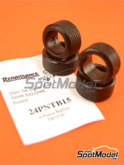 Renaissance Models: Tyre set 1/24 scale - Michelin TB15 rally 15 inches - for Tamiya references TAM24328 and TAM24334