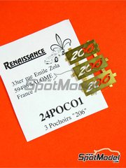 Renaissance Models: Logotypes 1/24 scale - Peugeot 206 - photo-etched parts