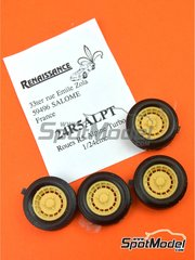Renaissance Models: Rims and tyres set 1/24 scale - Alpine Turbo Design - resin parts and rubber parts - for ESCI reference 3016, or Italeri reference 3652 - 4 units image