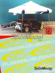 Renaissance Models: Set 1/24 scale - Subaru assistance tent - decals, vacuform and posts