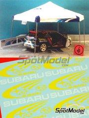 Renaissance Models: Carpa escala 1/24 - Carpa de asistencia de Subaru - calcas, vacuformado y mastiles