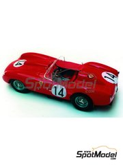 Renaissance Models: Model car kit 1/43 scale - Ferrari 250 Testa Rossa TR 58 chassis 0728TR #14 - Olivier Gendebien (BE) + Phil Hill (US) - 24 Hours Le Mans 1958 - resin multimaterial kit