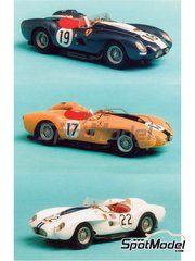 Renaissance Models: Model car kit 1/43 scale - Ferrari 250 Testa Rossa TR 57 customer - 24 Hours Le Mans 1958 - resin multimaterial kit