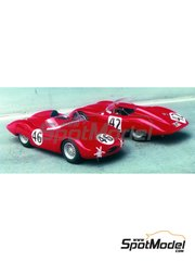 Renaissance Models: Model car kit 1/43 scale - Osca 750S Aerodinamico Laroche #42, 46 - 24 Hours Le Mans 1957 - resin multimaterial kit