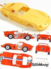 Renaissance Models: Model car kit 1/43 scale - Ferrari 250 GTO #19, 148 - Jean Guichet (FR) + Pierre Noblet (BE), Jean Guichet (FR) + Jean Clement (FR) - 24 Hours Le Mans, Tour de France Automobile 1962 - resin multimaterial kit