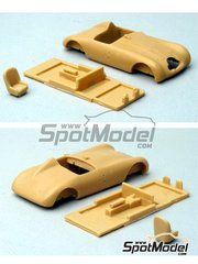 Renaissance Models: Model car kit 1/43 scale - Monopole Simca #44, 45 - 24 Hours Le Mans 1949 - resin multimaterial kit