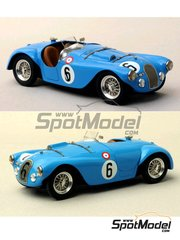 Renaissance Models: Model car kit 1/43 scale - Talbot Lago Grand Sport Spyder #6 - André Chambas (FR) + André Morel (FR), André Chambas (FR) + Charles de Cortanze (FR) - 24 Hours Le Mans 1952 and 1953 - resin multimaterial kit