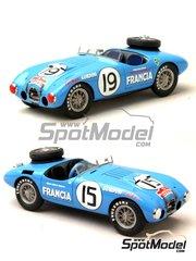 Renaissance Models: Model car kit 1/43 scale - Gordini T15S #15, 19 - Carrera Panamericana 1952 - resin multimaterial kit