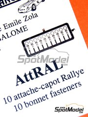 Renaissance Models: Detail 1/43 scale - Bonnet pin for rally car - photo-etched parts - 10 units