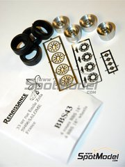 Renaissance Models: Rims and tyres set 1/43 scale - BBS 18 inches - tyres, metal pieces, photo-etched parts - 4 units