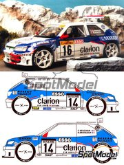Renaissance Models: Model car kit 1/24 scale - Peugeot 306 Maxi Evo 2 Esso #104 - Francois Delecour (FR) + Daniel Grataloup (FR), Gilles Panizzi (FR) + Hervé Panizzi (FR), Adruzilo Lopes (PT) + Luis Lisboa (PT) - Montecarlo Rally 1998 - resin multimaterial kit