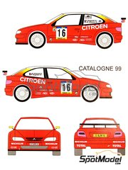 Renaissance Models: Model car kit 1/24 scale - Citroen Xsara Kit-car Total #16 - Philippe Bugalski (FR) + Jean-Paul Chiaroni (FR), Jesús Puras (ES) + Marc Martí (ES) - Catalunya Costa Dorada RACC Rally, Tour de Corse 1999 - resin multimaterial kit