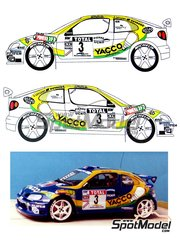 Renaissance Models: Model car kit 1/24 scale - Renault Megane Maxi Kit Car Yacco #3 - Benoît Rousselot (FR) + Jacques 'Jack' Boyère (FR) - Alsace - Vosges Rally 1999 - resin multimaterial kit