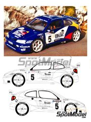 Renaissance Models: Model car kit 1/24 scale - Renault Megane Maxi Diac #5, 8 - Philippe Bugalski (FR) + Jean-Paul Chiaroni (FR), Jean Ragnotti (FR) + Gilles Thimonier (FR) - Tour de Corse 1996 - photo-etched parts, resin parts, rubber parts, water slide decals and assembly instructions